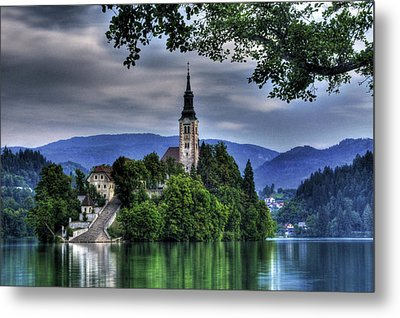Mystical Lake Bled Metal Print