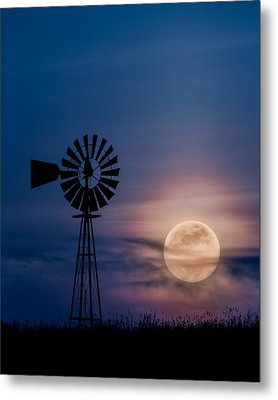 Mystical Moon Metal Print