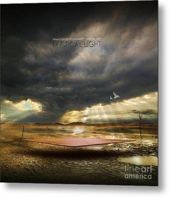 Metal Print featuring the digital art Mystical Light by Franziskus Pfleghart