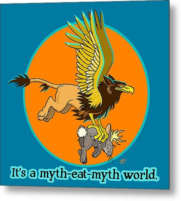 Mythhunter Metal Print by J L Meadows