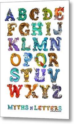 Myths N Letters Metal Print by Stanley Morrison
