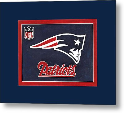 N. E. Patriots T-shirt Metal Print by Herb Strobino