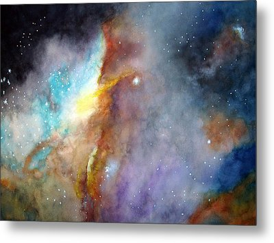 Metal Print featuring the painting N11b Large Magellanic Cloud by Allison Ashton