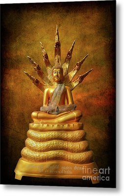 Metal Print featuring the photograph Naga Buddha by Adrian Evans