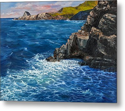 Metal Print featuring the painting Nakalele Point Maui by Darice Machel McGuire