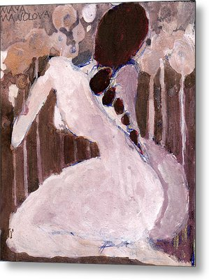Metal Print featuring the painting Naked Dream by Maya Manolova