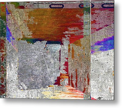 Metal Print featuring the mixed media Name This Piece by Tony Rubino