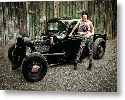 Nancy V Metal Print by Jerry Golab