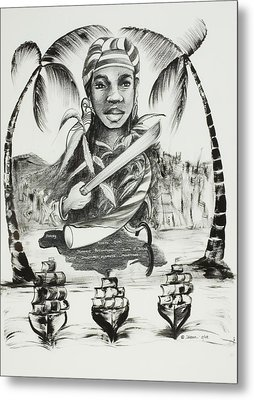 Nanny Of The Maroons Metal Print by Ikahl Beckford