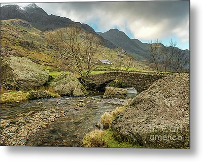 Metal Print featuring the photograph Nant Peris Bridge by Adrian Evans