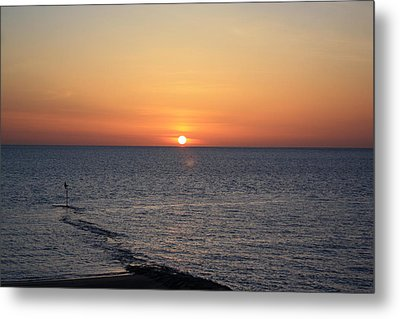 Metal Print featuring the photograph Nantasket Sunrise II Hdr by Greg DeBeck