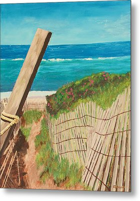 Metal Print featuring the painting Nantucket Dream by Cynthia Morgan
