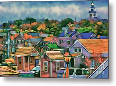Nantucket Nestles Around The Port Metal Print by Jack Torcello