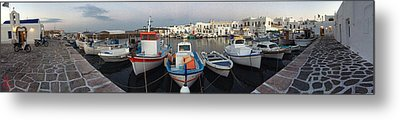 Naoussa Village Island Greece Metal Print