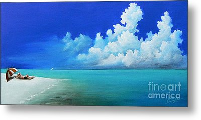 Nap On The Beach Metal Print by S G