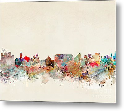 Metal Print featuring the painting Naples Italy by Bri B