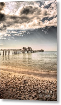 Naples Pier Metal Print by Margie Hurwich