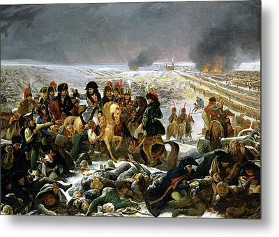 Metal Print featuring the painting Napoleon At Eylau  by Antoine Jean Gros