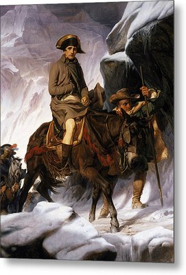 Napoleon Crossing The Alps Metal Print by Hippolyte Delaroche