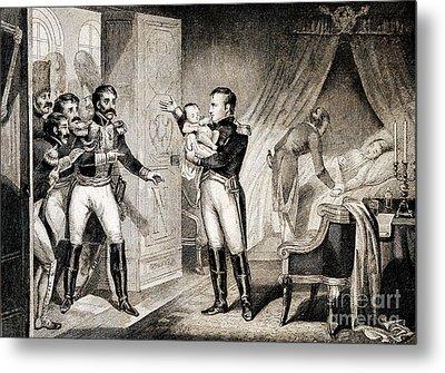 Napoleon I Presenting Newborn Son, 1811 Metal Print