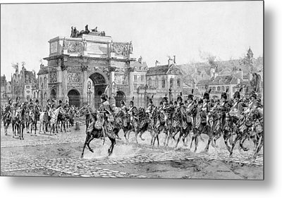 Napoleon I Reviewing His Troops  Metal Print by War Is Hell Store