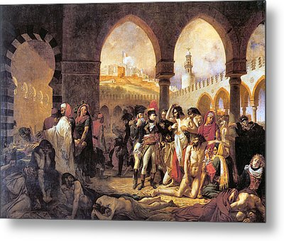 Napoleon In The Plague House Metal Print by Antoine Jean Gros