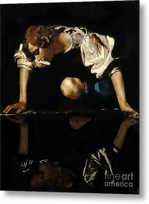 Narcissus Metal Print by Caravaggio