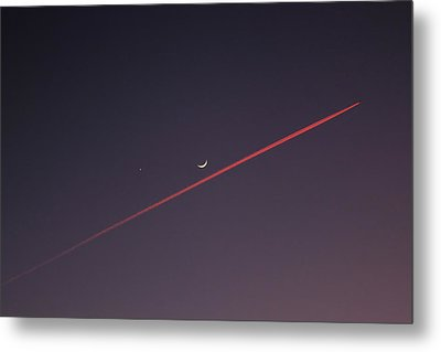 Narrowly Missed The Moon Metal Print by Jasna Buncic