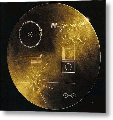 Nasas Voyager 1 And 2 Spacecraft Metal Print by Everett