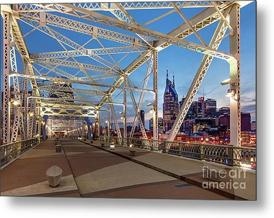 Metal Print featuring the photograph Nashville Bridge by Brian Jannsen