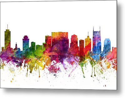 Nashville Cityscape 06 Metal Print by Aged Pixel