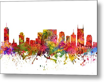 Nashville Cityscape 08 Metal Print by Aged Pixel