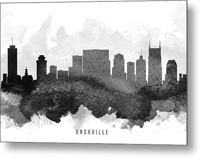 Nashville Cityscape 11 Metal Print by Aged Pixel