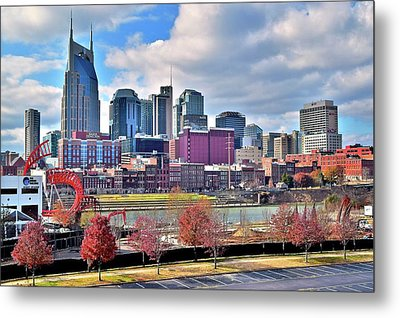 Metal Print featuring the photograph Nashville Clouds by Frozen in Time Fine Art Photography