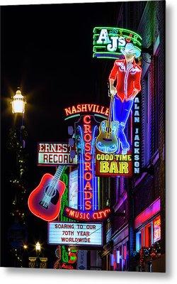 Nashville Neon Broadway Metal Print by Stephen Stookey