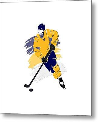Nashville Predators Player Shirt Metal Print by Joe Hamilton