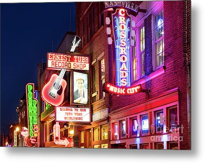 Metal Print featuring the photograph Nashville Signs by Brian Jannsen