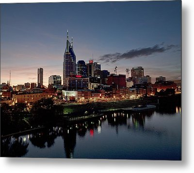 Nashville Skyline And The Cumberland Metal Print
