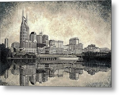 Nashville Skyline II Metal Print by Janet King