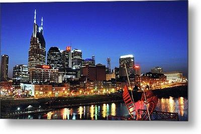 Nashville Skyline Metal Print by Giffin Photography