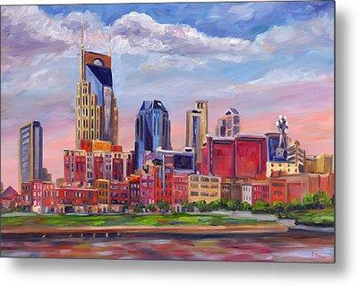 Nashville Skyline Painting Metal Print by Jeff Pittman