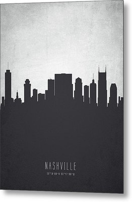 Nashville Tennessee Cityscape 19 Metal Print by Aged Pixel