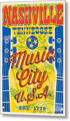 Nashville Tennessee Poster Metal Print