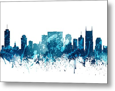 Nashville Tennessee Skyline 19 Metal Print by Aged Pixel