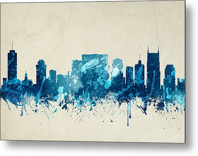 Nashville Tennessee Skyline 20 Metal Print by Aged Pixel