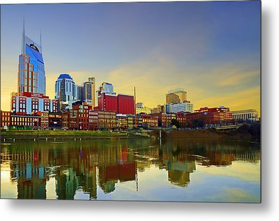 Nashville Tennessee Metal Print by Steven  Michael