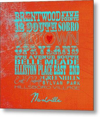 Nashville, Tn V2 Metal Print by Brandi Fitzgerald