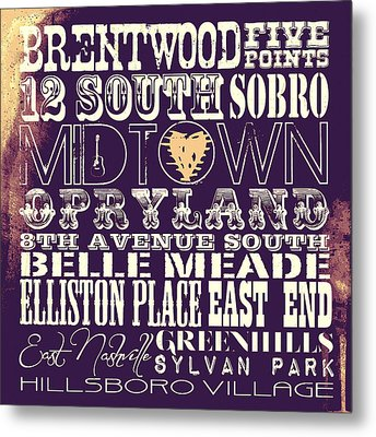 Nashville Tn V4 Metal Print by Brandi Fitzgerald