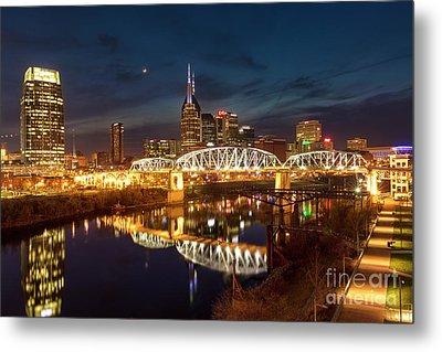 Metal Print featuring the photograph Nashville Twilight Skyline II by Brian Jannsen