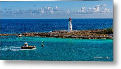 Nassau Harbor Lighthouse Metal Print by Christopher Holmes